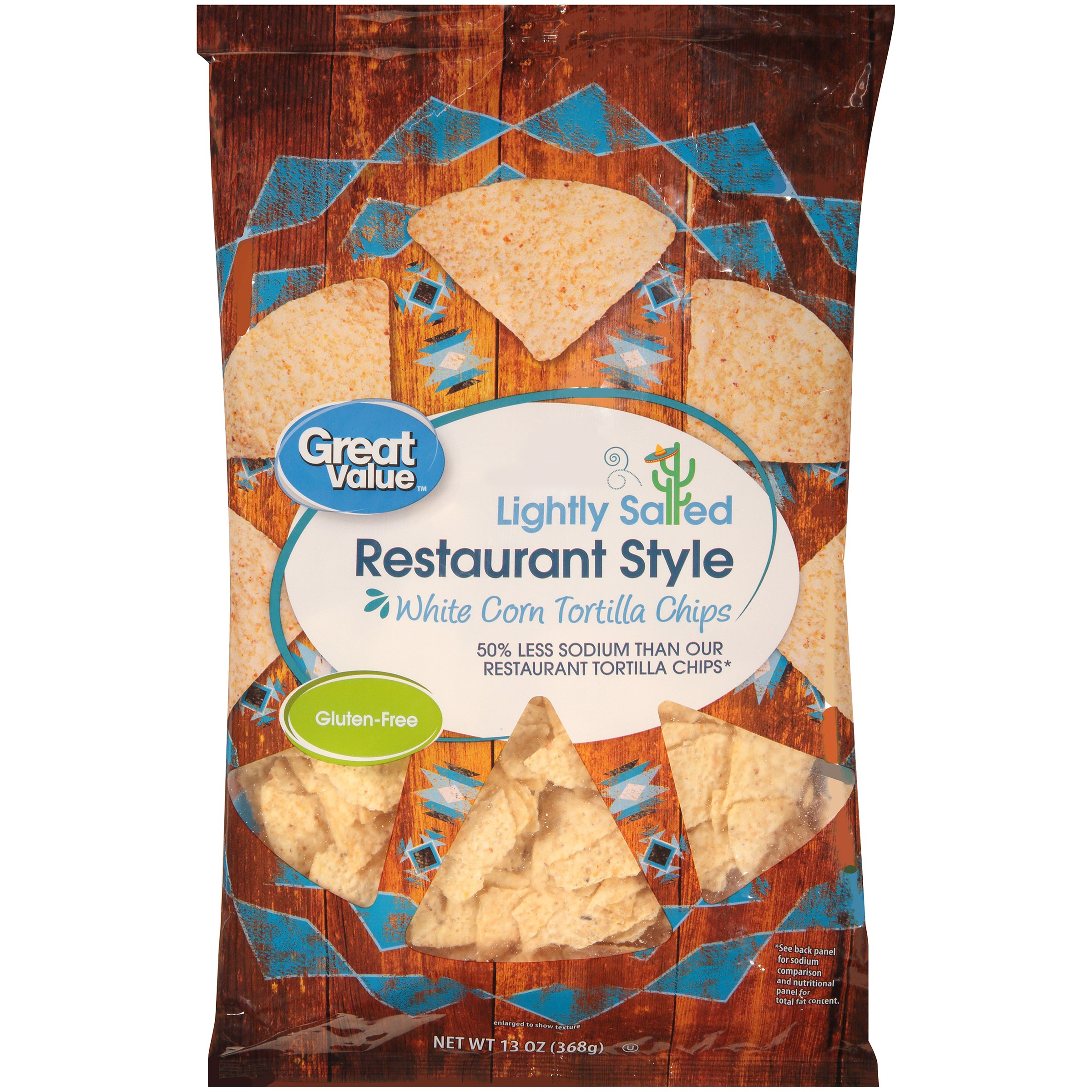Great Value Restaurant Style White Corn Tortilla Chips 13 oz. Bag by Shearer'S Food Inc