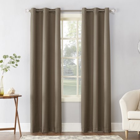 Sun Zero Cooper Textured Thermal-Lined Room Darkening Energy-Efficient Grommet Curtain Panel