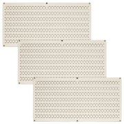 Wall Control Pegboard Value Pack - (3) Pack of Wall Control 16-Inch Tall x 32-Inch Wide Horizontal Metal Pegboards for Wall Home & Garage Tool Storage Organization (Beige Pegboard)