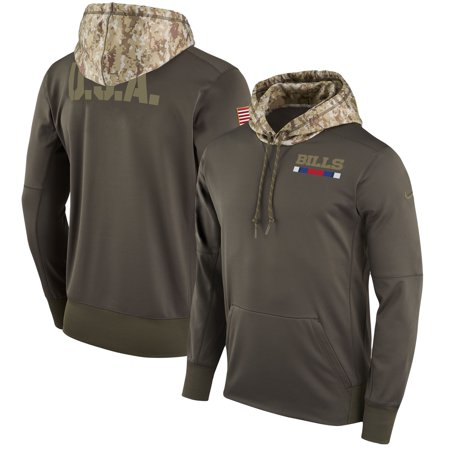Buffalo Bills Nike Salute to Service Sideline Therma Pullover Hoodie - Olive ()