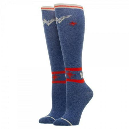 Knee High Socks - Wonder Woman - Warrior New Licensed kh5dh7wwm - image 2 of 2