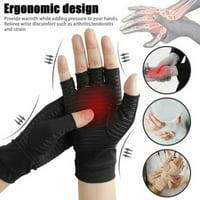 Copper Compression Fit Arthritis Gloves Joint Hands Carpal Wrist Support Brace L Size