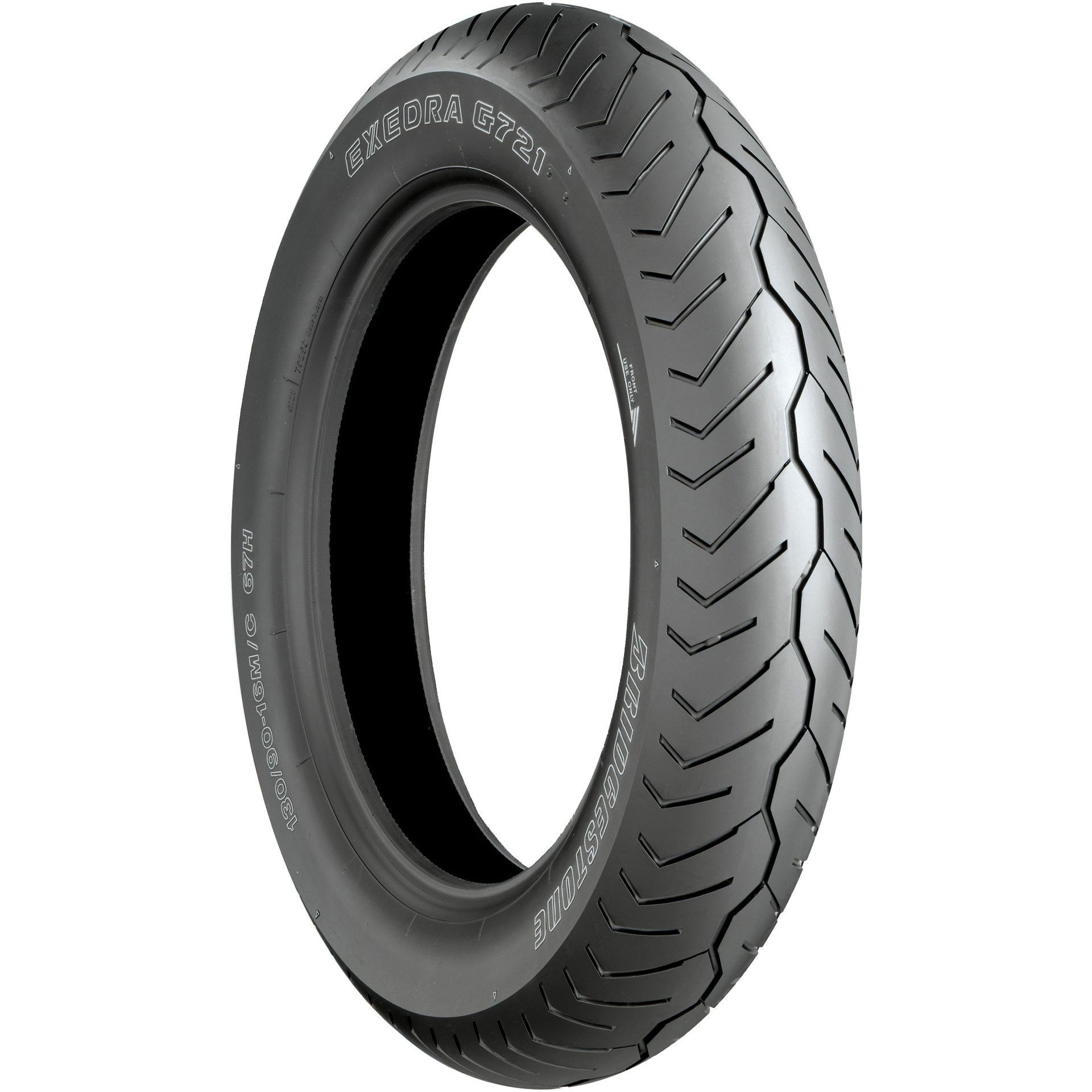 Bridgestone O.E. Whitewall Front Tire 130/90-16 67H Bias ...