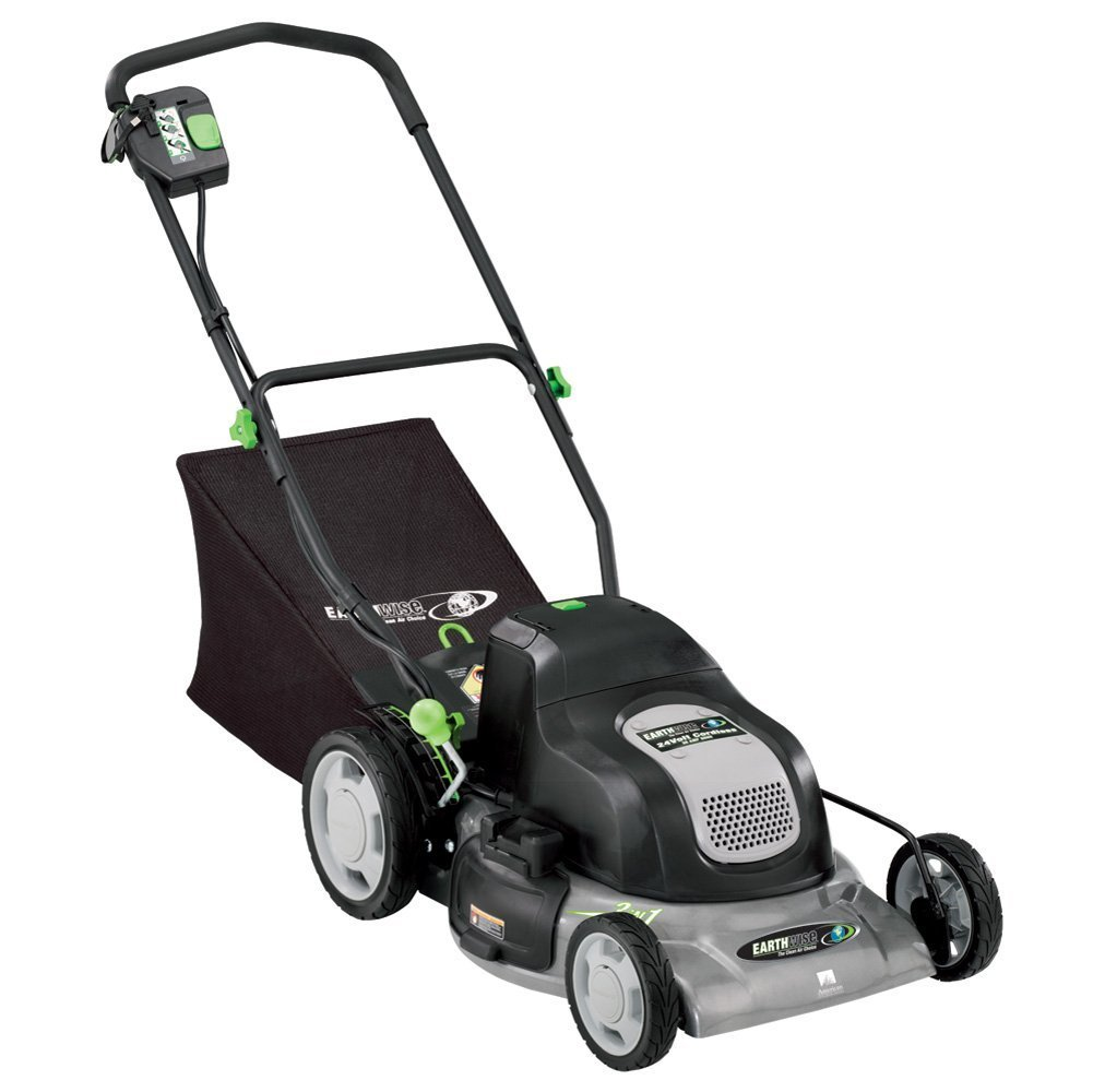 Earthwise Lawn Mower 20-Inch 24-Volt Cordless Electric Lawn Mower #60120 by EarthWise