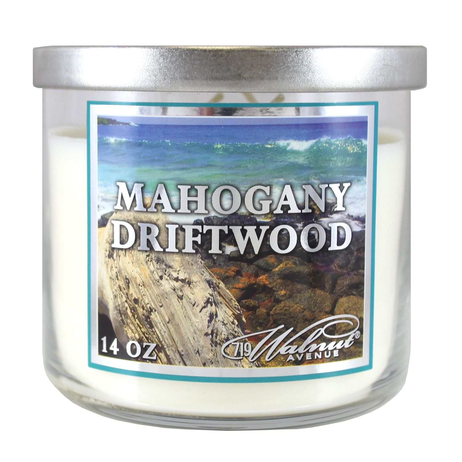 719 Walnut Avenue Scented Candle, Mahogany Driftwood, 14 Oz