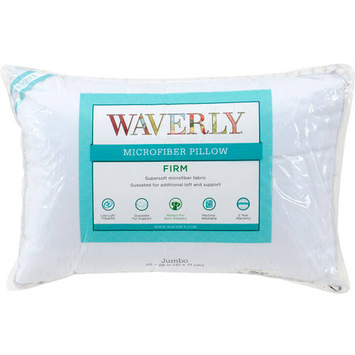 Waverly 100% Polyester Microfiber Jumbo Firm Pillow Set of 2