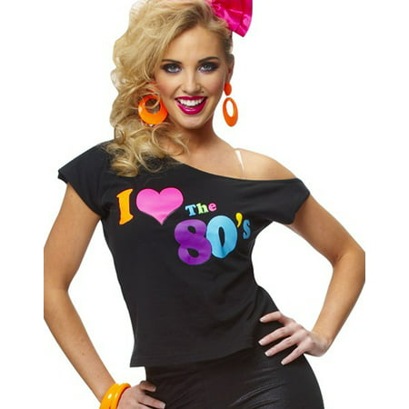 I Love The 80'S Shirt Retro New Wave Womens Fancy Dress Halloween Costume](Max Creek Halloween)