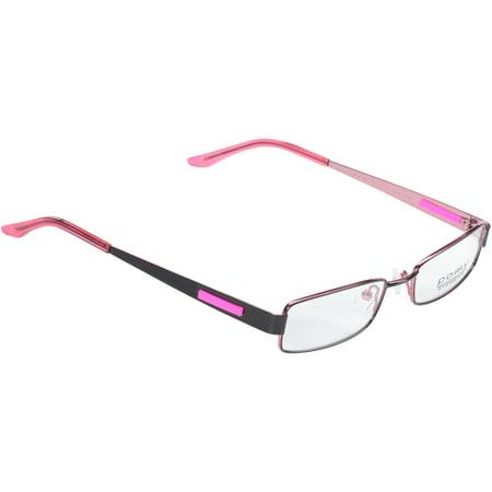 Pomy Eyewear Rx-able Eyeglass Frames 381 Black Pink - Walmart.com