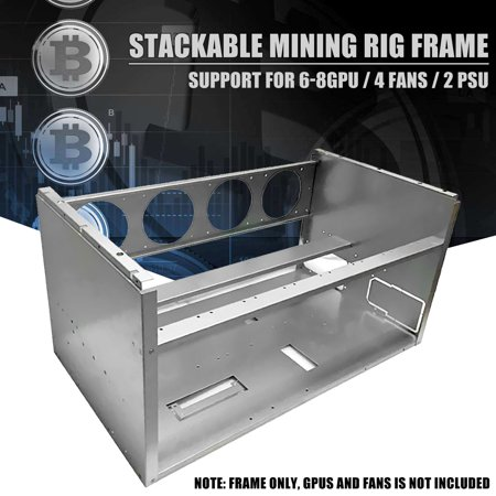 Aluminum Stackable case Open Air Mining Rig Frame Case For 6 8 GPU ETH ETC ZEC Bitcoin
