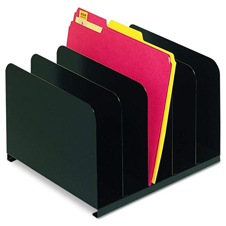 Steelmaster Vertical Organizer - 5 Compartment(S) - Steel - Black, 1 Each (2645004), Holds many combinations of files, forms, reports and more By MMF