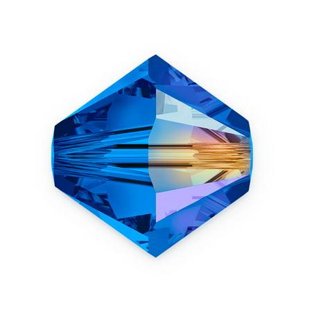 Ab 5301 Bicone - Swarovski Crystal Bicone Beads 5301 3mm Sapphire AB (Package of 10)