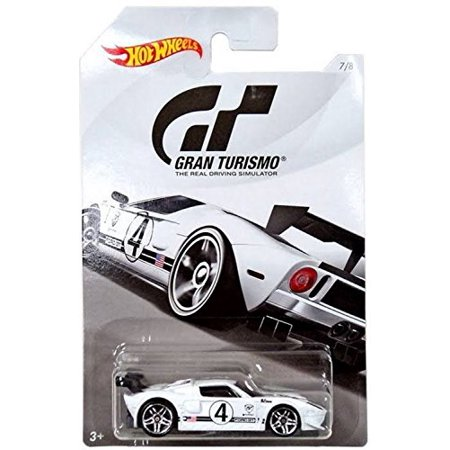 Hot Wheels FORD GT 2018 GRAN TURISMO Series 2 White FORD GT 1:64 Scale Collectible Die Cast Metal Toy Car Model