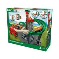 BRIO World Wooden Railway Train Set - Lift & Load Warehouse Set