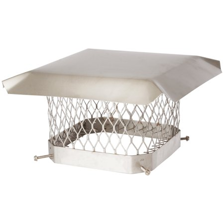 "Shelter SCSS99 Single-Flue Stainless Steel Chimney Cap (9"" x 9"")"