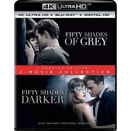 Fifty Shades Of Grey   Fifty Shades Darker  2 Movie Collection  Unrated Edition   Unrated   4K Ultra Hd   Blu Ray   Digital Copy