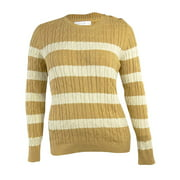 Charter Club Women's Button Shoulder Striped Sweater