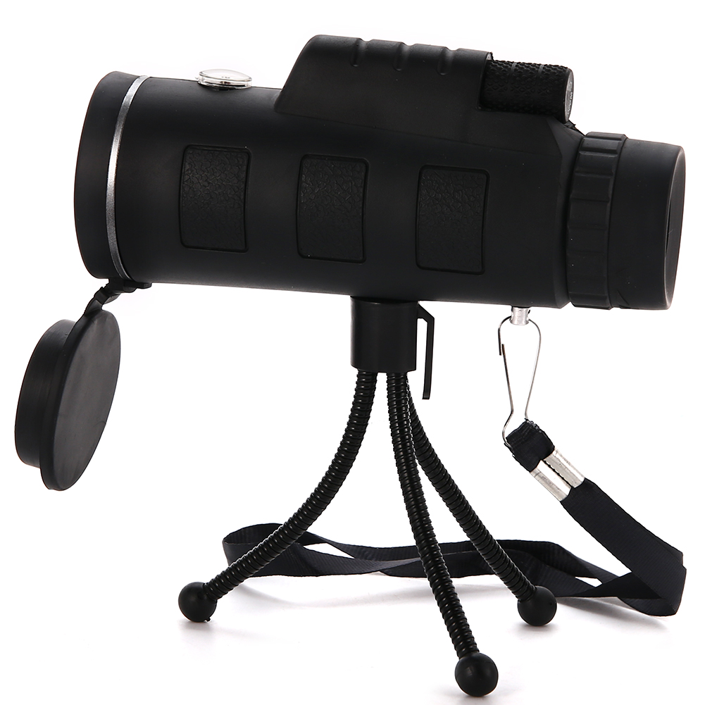 Monocular 35x50 Bak4 Wide Angle High Definition 40x60 Portable Handheld Camping Hiking Telescope by
