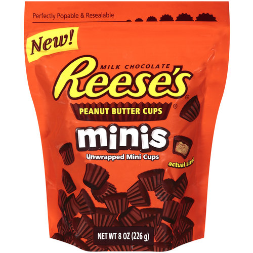 Reese's Minis Unwrapped Peanut Butter Cups, 8 oz