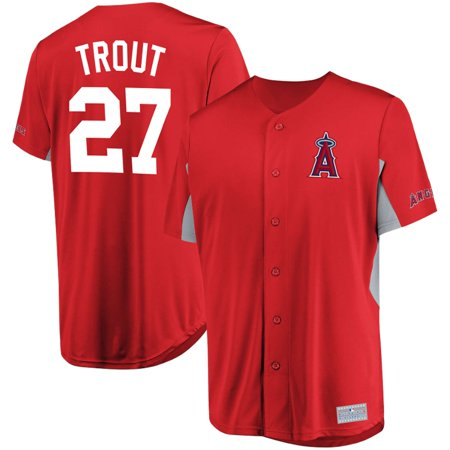 - Men's Majestic Mike Trout Red Los Angeles Angels MLB Jersey