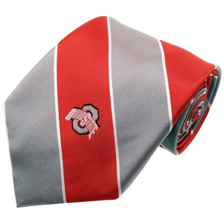 Donegal Bay NCAA Ohio State Buckeyes Wide Stripe Silk Necktie