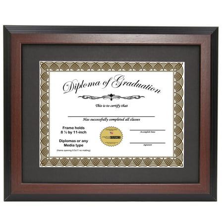 CreativePF [11x14mh] Mahogany Diploma Frame with 11x14-inch White ...