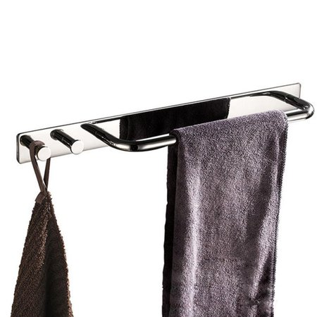 Self Adhesive 15 Inch Bathroom Towel Bar Sus 304 Stainless Steel Bath Wall Shelf Rack