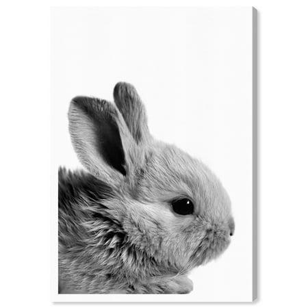 Wynwood Studio 'Bunny Ears' Animals Wall Art Canvas Print - Gray, White, 16