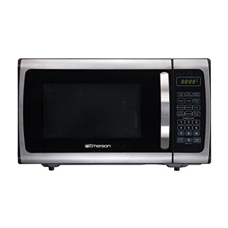 Emerson ER105005 0.9 Cu. Ft. 900 Watt Countertop (Emerson Stainless Steel Microwave 1-3 Cu Ft)