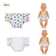 """Baby Alive Diapers Doll Underwear Set for 18"""" American Girl Doll, Baby Dolls"""