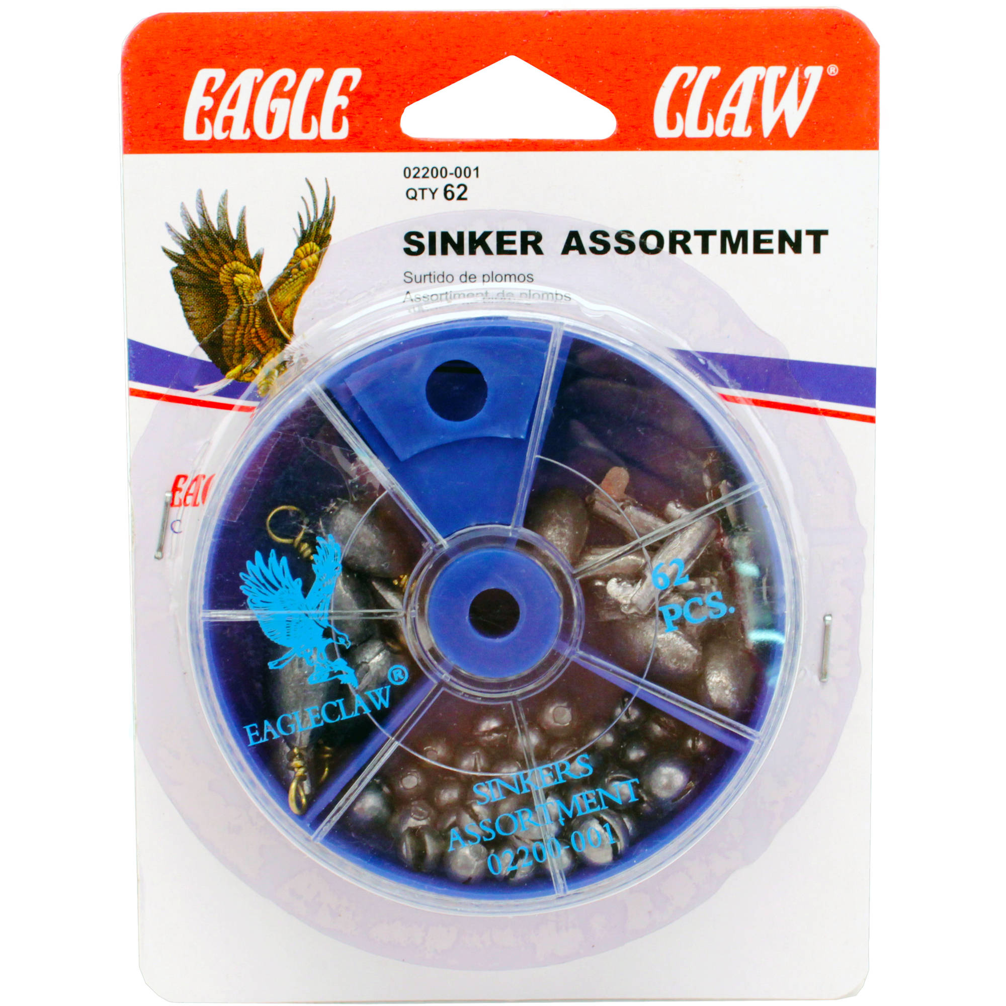 Eagle Claw Sinker Assortment, 62-Pack