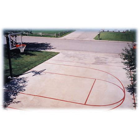 First team basketball court stencil kit for Average basketball court size