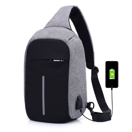 Gaming Backpack, Multifunction Outdoor Traveling Bag with USB Charging Interface for Nintendo Switch System/PS4 Slim/Playstation 4/Xbox ONE/Xbox ONE X/PS3/WII U/Xbox 360 Systems and Game