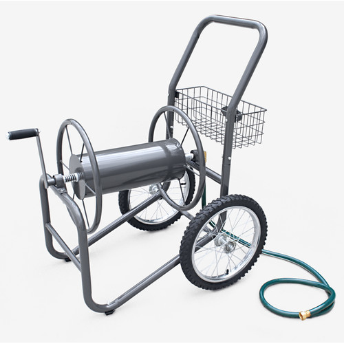 Liberty Garden Industrial 2 Wheel Steel Hose Reel Cart by Hose Reels