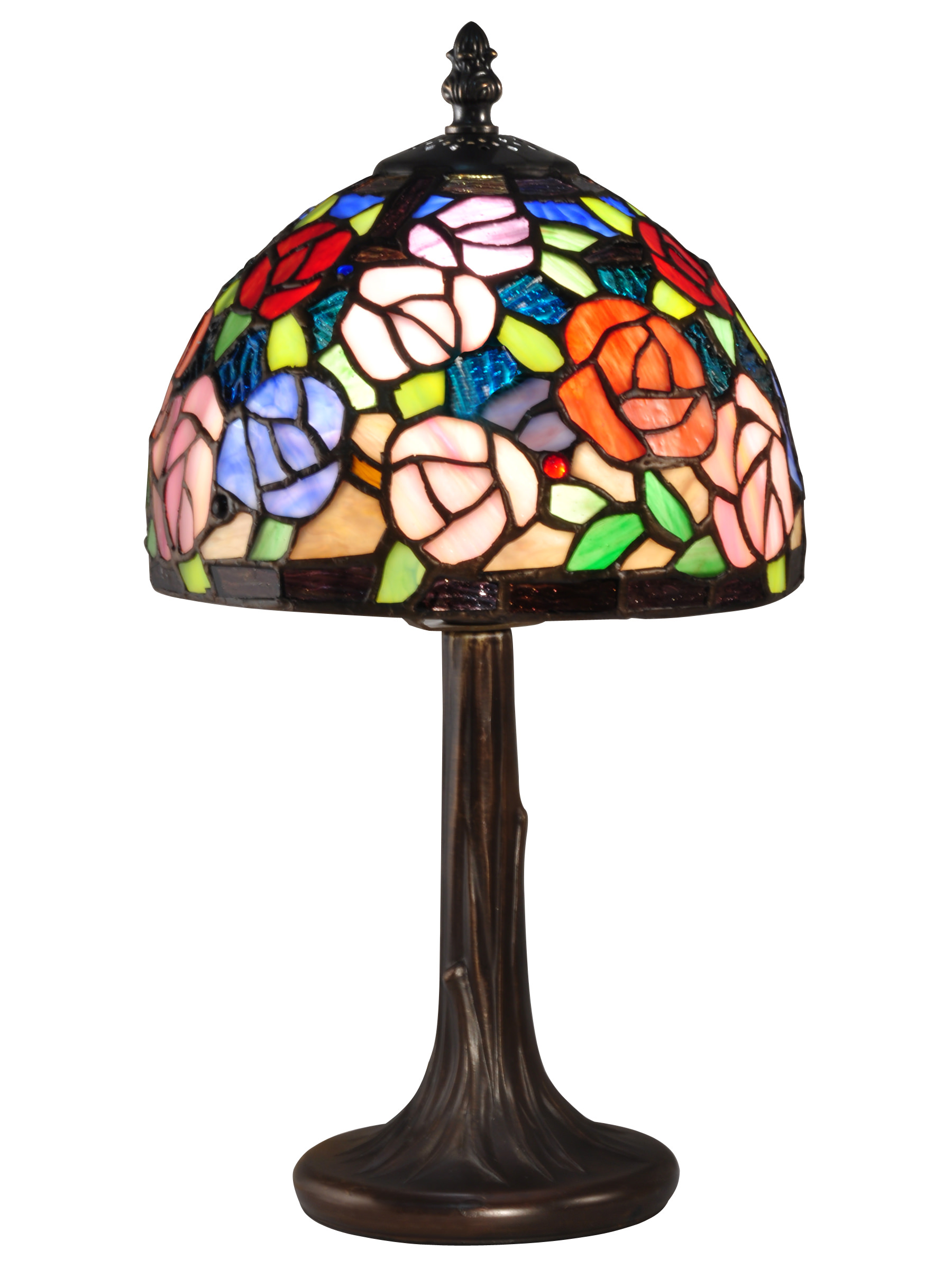 Carnation Tiffany Accent Table Lamp Walmart Com Walmart Com