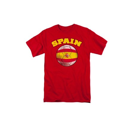 - Spain Pride Soccer Ball Flag  Adult T-Shirt