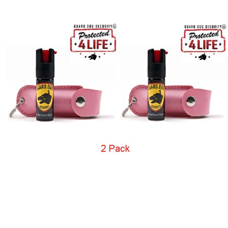 Pepper Spray 2 Pack Pink Guard Dog Hard Case