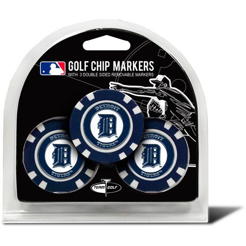 Team Golf MLB Detroit Tigers 3 Pack Golf Chip Ball Markers