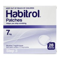 STEP 3 (28 Count) Habitrol Transdermal Nicotine Patches, 7mg, 24hr Stop Smoking Aid