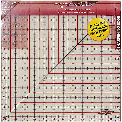 "Sullivans The Cutting EDGE Frosted Ruler, 12-1/2"" x 12-1/2"""