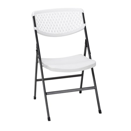 Back Resin Chair (Cosco Mesh Resin Folding Chair (4-Pack), White )
