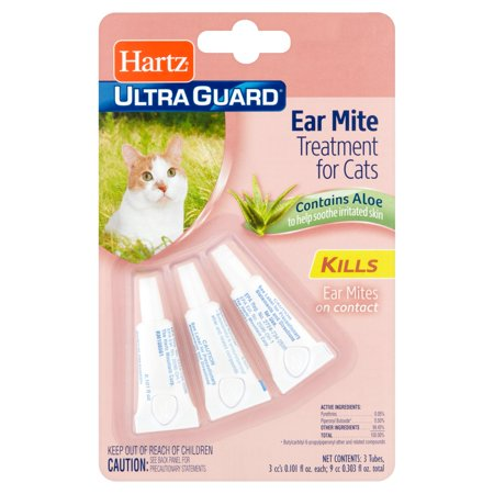 Hartz Ultra Guard Ear Mite Treatment for Cats, 0.101 fl oz, 3