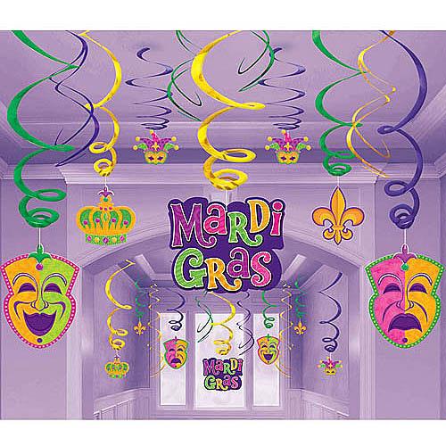Mardi Gras Swirl Danglers Mega Pack