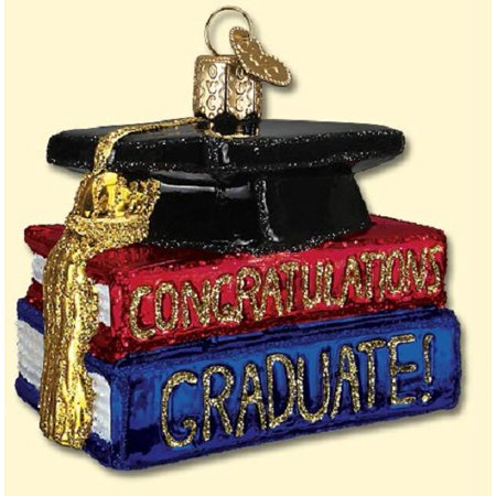 Congrats Graduate Graduation Glass Old World Christmas Ornament 36091 FREE BOX
