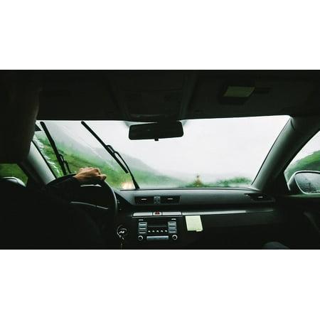 Multi Windshield - Canvas Print Drive Rain Windshield Wipers Roadtrip Cab Taxi Stretched Canvas 10 x 14