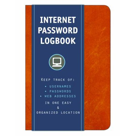 Internet Password Logbook  Keep Track Of Usernames  Passwords  Web Addresses In One Easy   Organized Location