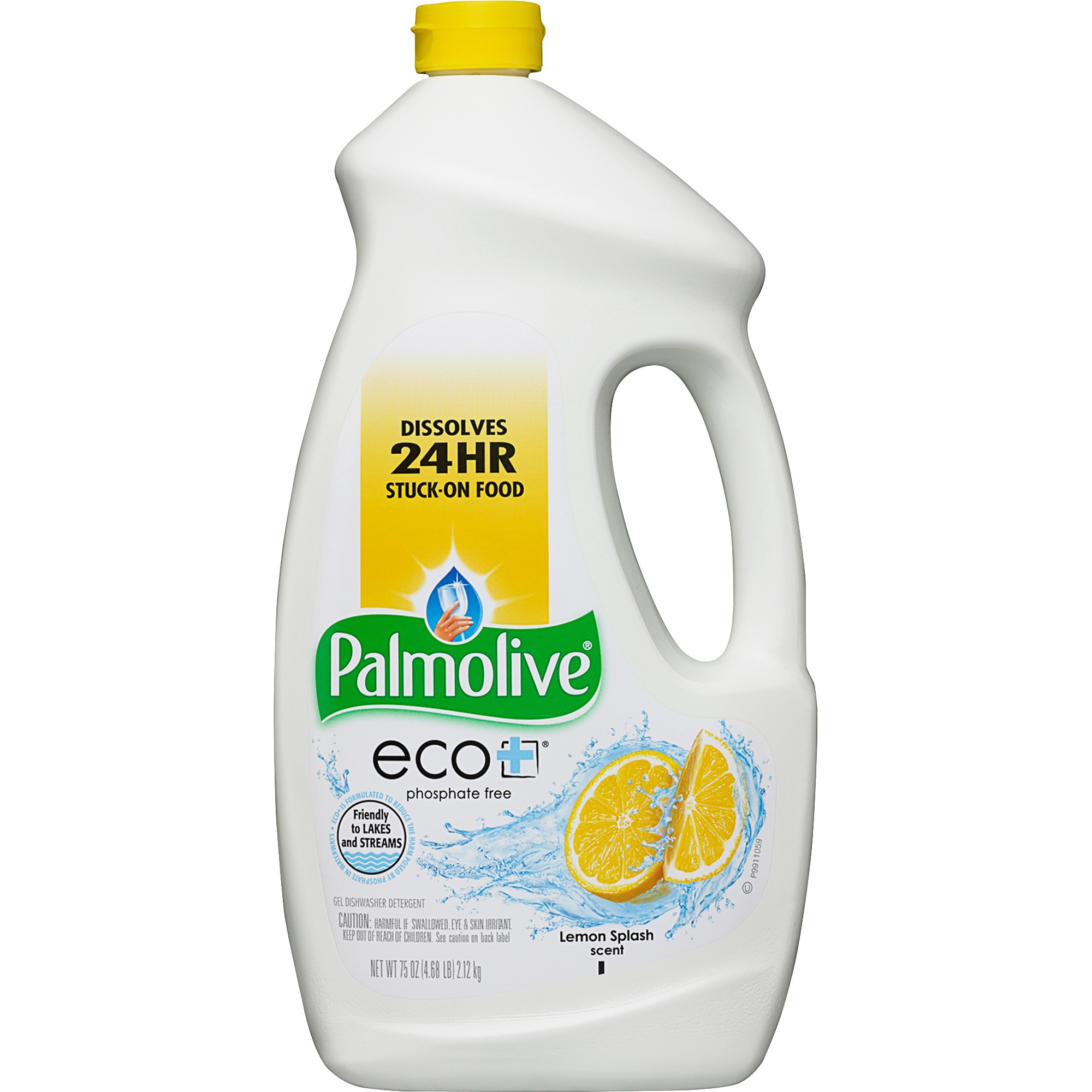 Palmolive Eco Gel Dishwasher Detergent, Lemon Splash, 75 Fl Oz