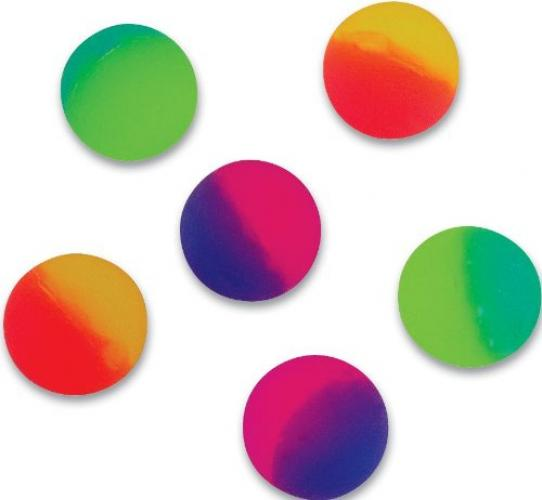 Dozen Glow in The Dark Rubber Eyeball Bouncy Balls 1 3//8