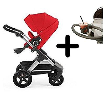 Stokke trailz all-terrain stroller - red + stokke cup holder