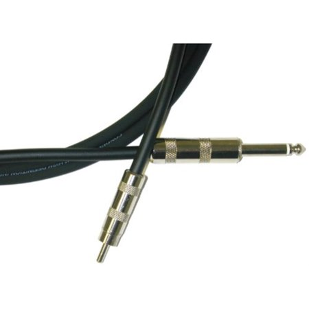Conquest Instrument Cable - Conquest Sound HRQ 3 Hi Definition 3-Foot Instrument Cable1/4-Inch Straight to RCA Male