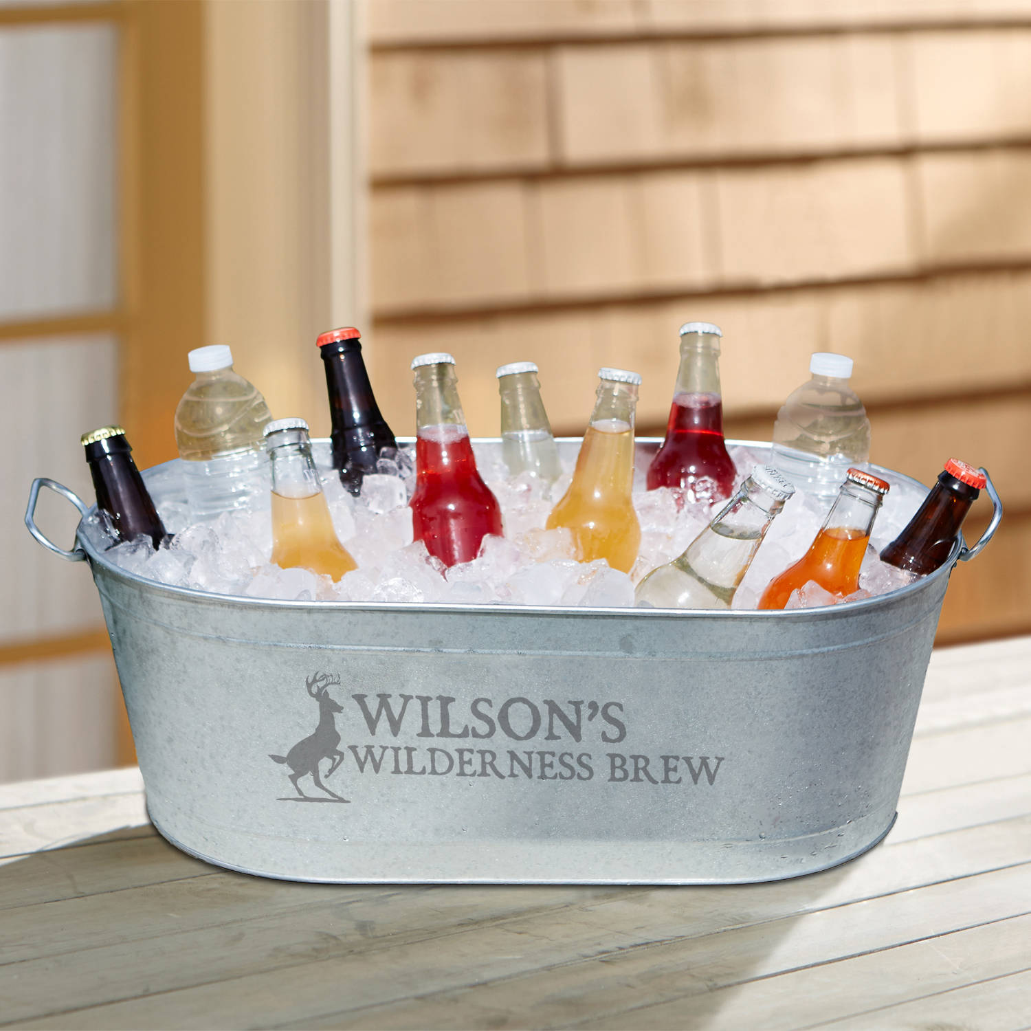 Personalized Outdoorsman Design Beverage Tub Available in Different Animals